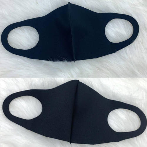 Adult Unisex Solid Black Facemask (Inside & Out)