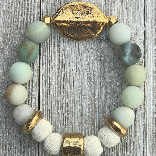 Amazonite Essential Oil Diffuser Bracelet