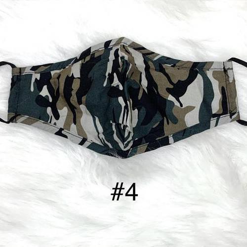 Camouflage Face Mask (Dark Blue, Tan, Black, White)