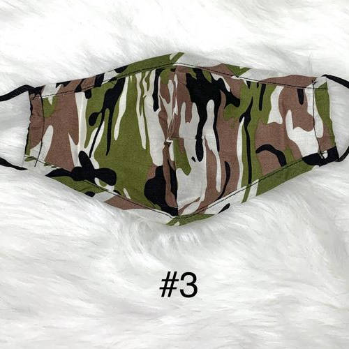 Camouflage Face Mask (Green, Brown, Black, White)