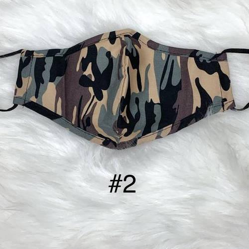 Camouflage Face Mask (Light Gray, Tan, Dark Brown, Black)