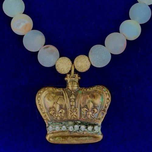 Crown Jewel Necklace (Blue Bust Image )