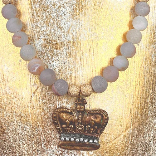 Crown Jewel Necklace (Gold Bust Image )