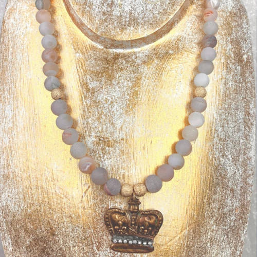 Crown Jewel Necklace (Gold Long Image )