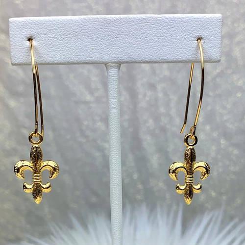 Fleur de Lis Earrings (hanging)