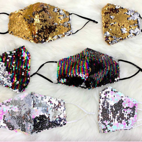 Flippy Sequin Facemask (All Examples)