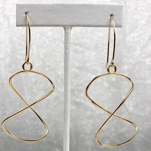 Gold Lightweight Free Form Earrings