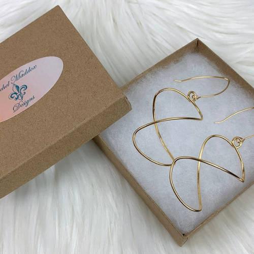 Gold Lightweight Free Form Earrings (Box)