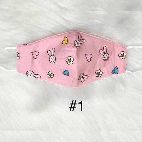 Kids Bunny & Bear Facemask (Pink Bunny)