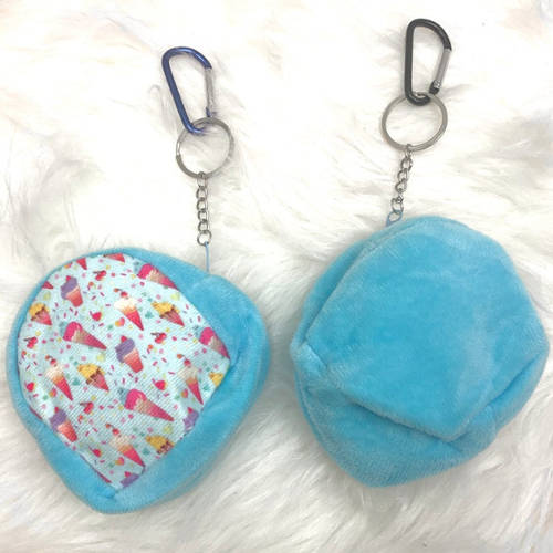 Kids Ice Cream Face Mask Pouch (Blue)