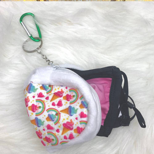 Kids Ice Cream Face Mask Pouch