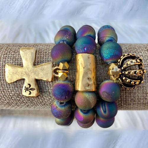 Rainbow Diffuser Bracelet (Set Of 3) display