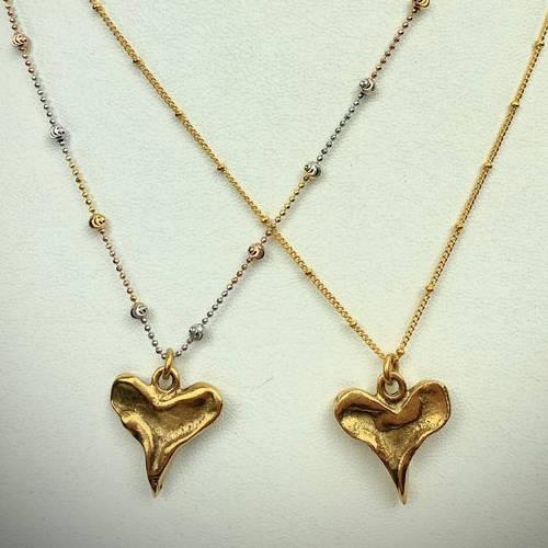 Rustic Heart Pendant Necklace