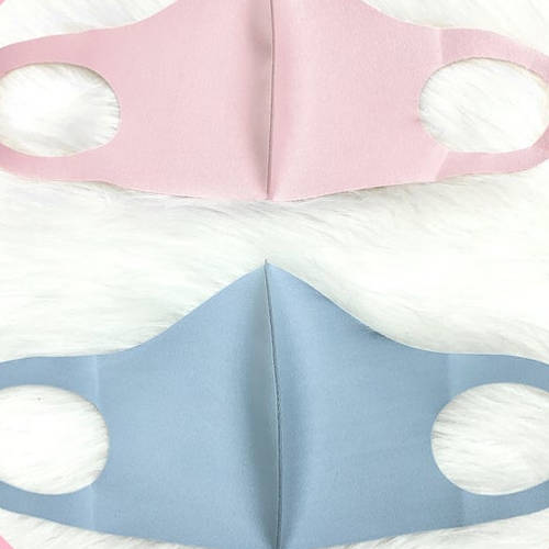 Solid Color Facemask (Pink & Blue)