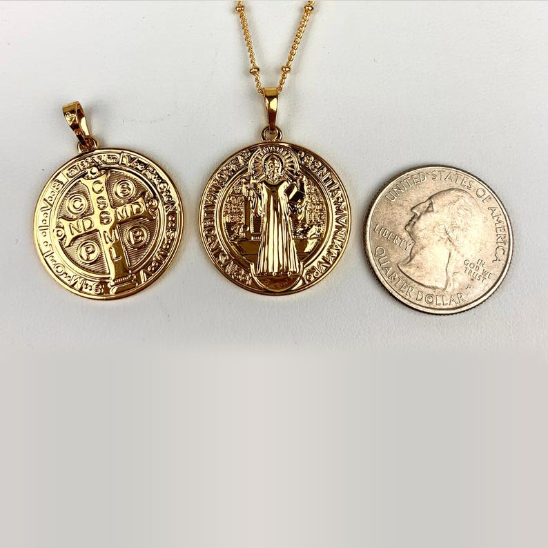 Double Sided St. Benedict Charm (Size)