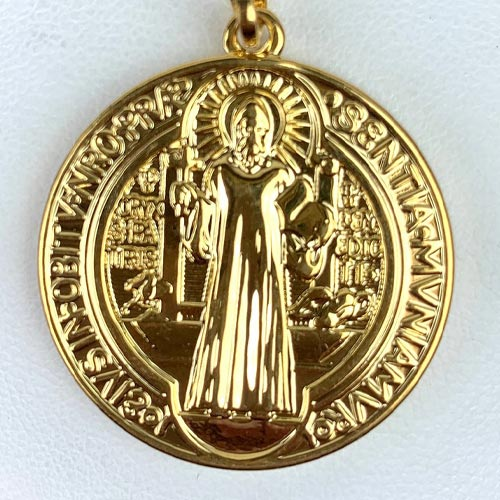 Double Sided St. Benedict Charm (Closeup)