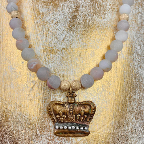 Crown Jewel Charm Necklace (Gold 2 Display)