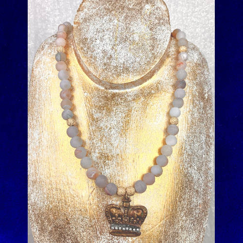 Crown Jewel Charm Necklace (Gold Display)