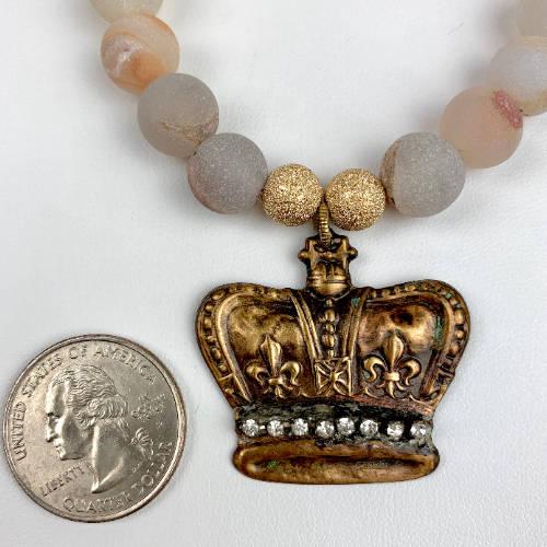 Crown Jewel Charm Necklace (Size Display)
