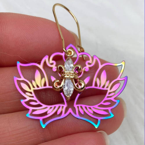 Rainbow Mask Earrings (Detail)