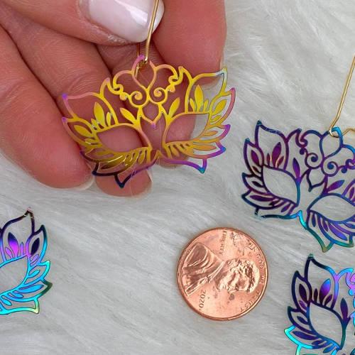 Rainbow Mask Earrings (Display 2 size)
