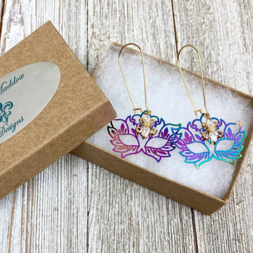 Rainbow Mask Earrings (Display Box)