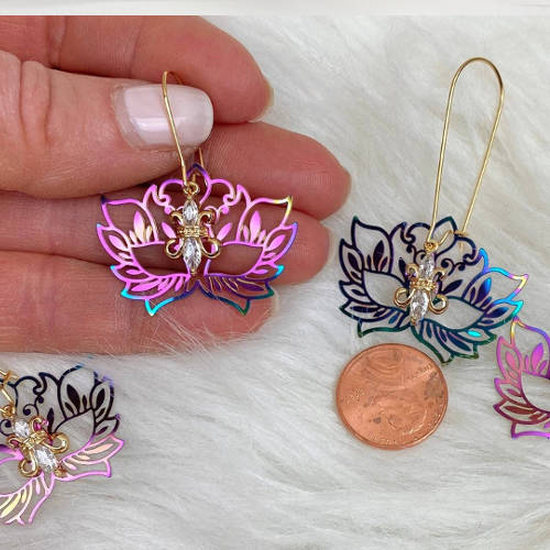 Rainbow Mask Earrings (Display size)