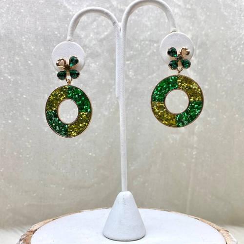 St. PAtricks Earrings (Dangle Holder)