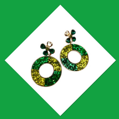 St. PAtricks Earrings (Dangle One)