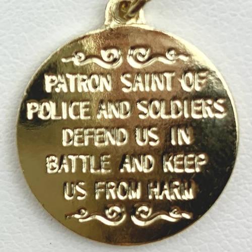 Saint Michael Round Coin Medallion (Detail View 3)
