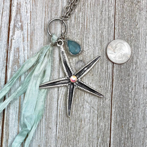 Silver Starlight Necklace (Scale View)