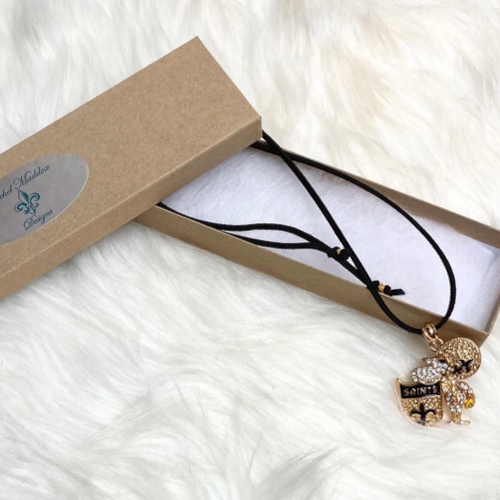Saints Charm Necklace (Long image)